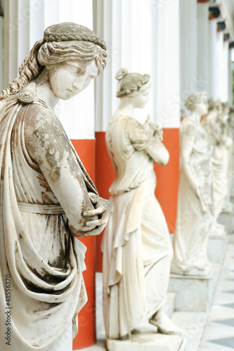 Column of Muses in Achillion palace