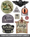 Fun Halloween Spoof Labels Set 4