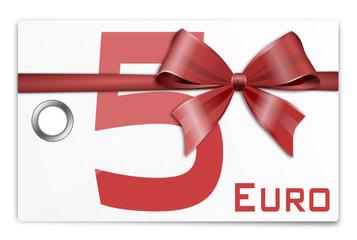 Gutschein Geschenkkarte 5 Euro