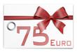 Gutschein Geschenkkarte 75 Euro