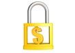 Dollar in padlock