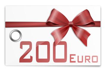 Gutschein Geschenkkarte 200 Euro