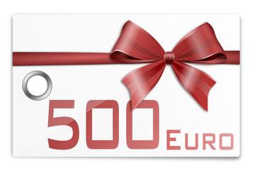Gutschein Geschenkkarte 500 Euro