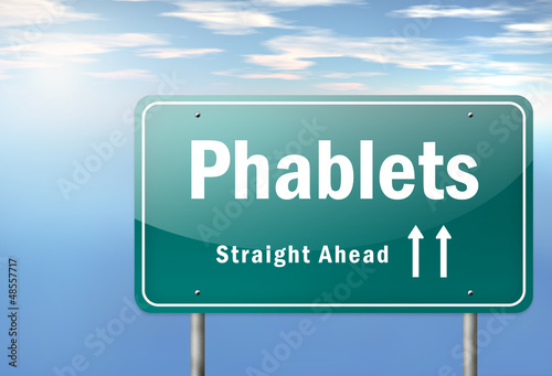 """Highway Signpost """"Phablets"""""""