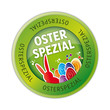Ostern, Osteraktion, Button, Aufkleber, Etikett