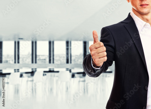 A business man with thumb up