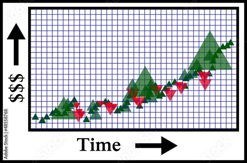 stock growth or wealth accumulation over time icon