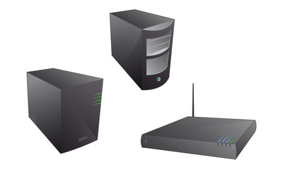 Server Router Computer