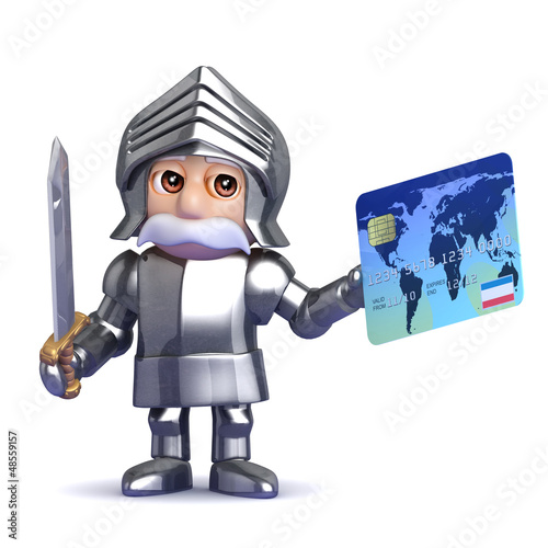 Knight pays by credit card