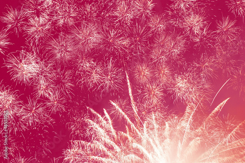 abstract holiday fireworks background