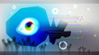 abstract background, vector eye