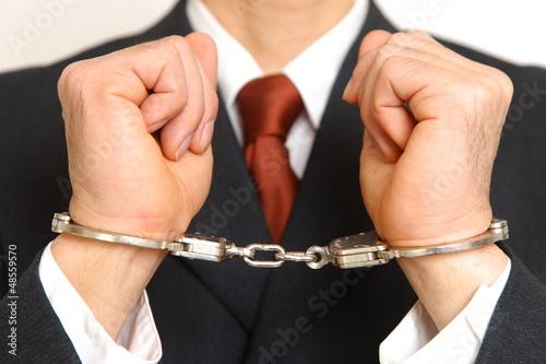 逮捕された知能犯