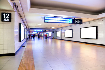 Train station underpass