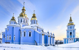 St Michael cathedral in Kiev in snow