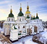 St Sophia cathedral in Kiev in winter