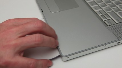 Exporting a dvd from silver laptop