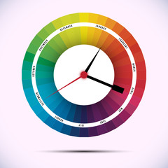 time for design concept clock