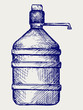 Bottle water. Doodle style
