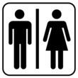 WC Symbol Toilette Mann & Frau