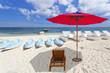 parasol, transat, kayak et pédalos sur plage