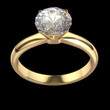 Diamond ring - isolated on black background with clipping path.