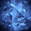 Luxury blue crystal facet background