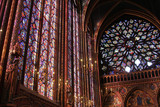 Stained glass window in La Sainte-Chapelle in Paris