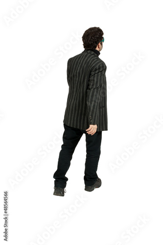 man isolated on white background