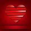 Love card with red heart and place for your text