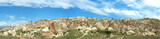 Panoramic view of Cappadocia mountains