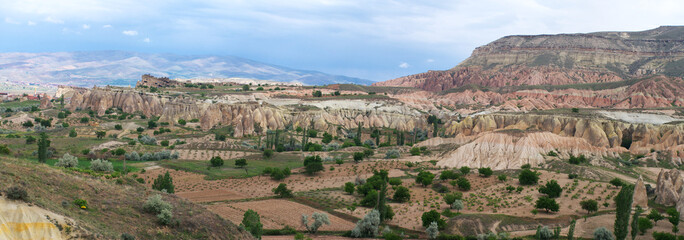 Panoramic view of Cappadocia