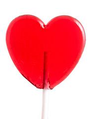 Lollipop heart on white.