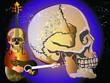 music skull art