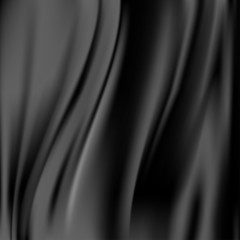 Black abstract satin curtain background