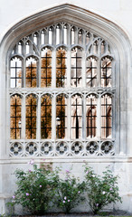 Arched window, king's College, Cambridge.