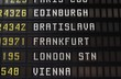 Flights in Europe - departure board