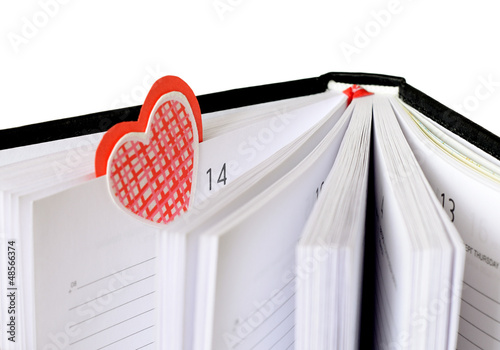 Bookmark at Valentine's Day