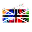 Colorful United Kingdom flag background