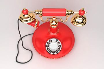 Telefono rosso, urgente, vintage, retro, chiamare, segreto