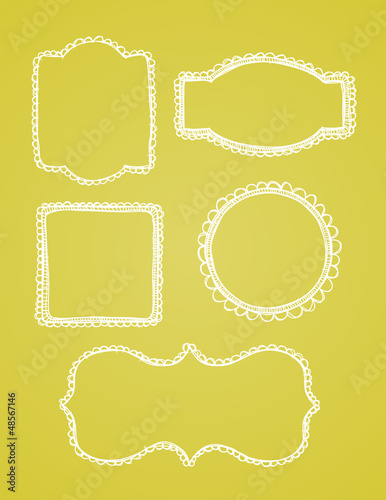 Hand Drawn Vector Lace Borders