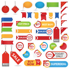 Big Set of Sale Stickers