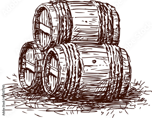 Three  barrels