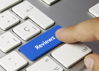 Reviews keyboard key. Finger