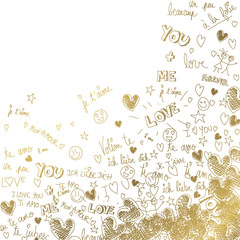 Love gold background