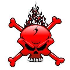 Red Fire Skull Clip Art Tattoo-Teschio Fuoco Rosso Tatuaggio