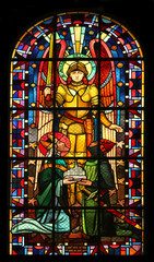 Saint Michael, Notre Dame de Clignancourt church, Paris, France