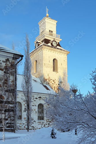 Kuopio Cathedral in winter, Finland