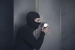 Burglar opening strongbox