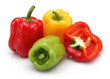 Red, yellow and green bell pepper group