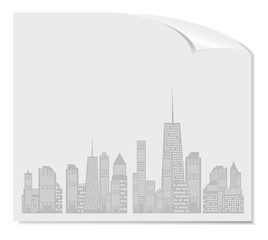 Vector illustration of cities silhouette. EPS 10.